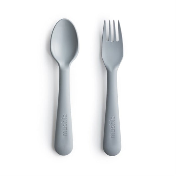 Mushie Fork & Spoon Cloud