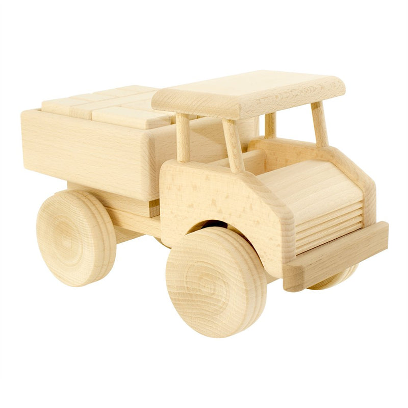 Jasio Wooden Truck With Blocks - Darby
