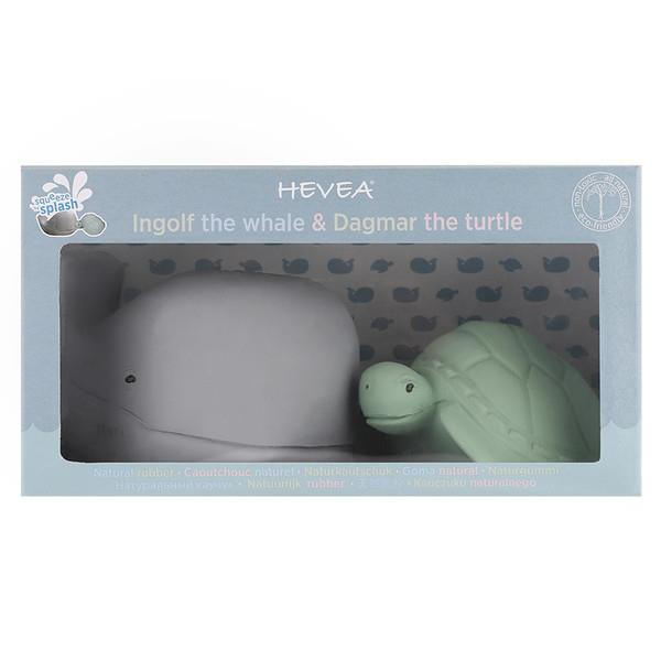 Hevea Whale And Turtle Gift Set - Natural Rubber