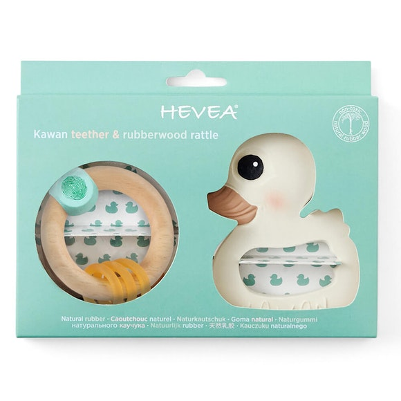 Hevea Kawan Teether And Rattle Set