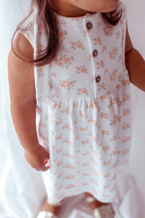 Elsie May Sun Dress - Clementine Print