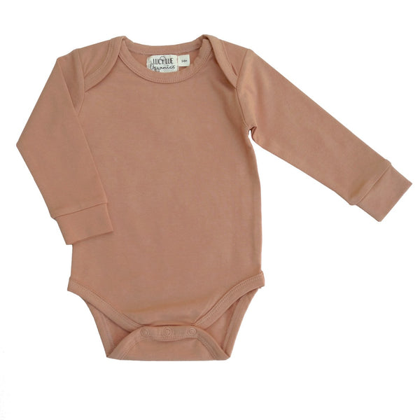 Organic Everyday Long Sleeve Bodysuit Clay