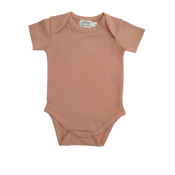 Organic Everyday Short Sleeve Bodysuit Clay