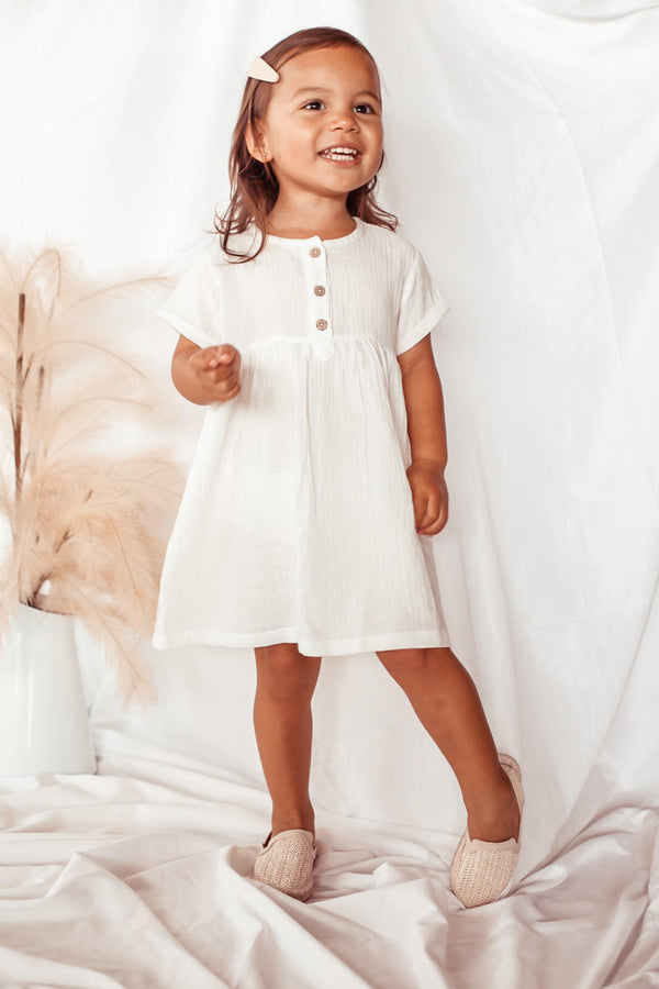 Elsie May Sadie Dress - Vanilla