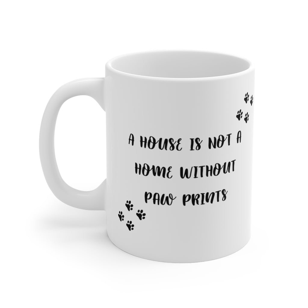 Home with Paw Prints Mug