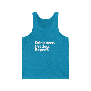 Drink Beer, Pet Dog, Repeat Jersey Tank