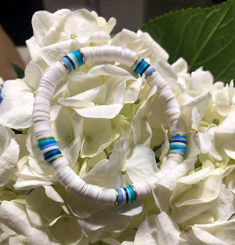 Rainbow Row Stripe Bracelet (in Blues!)