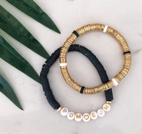 Luxe Gold Black & White Stacker
