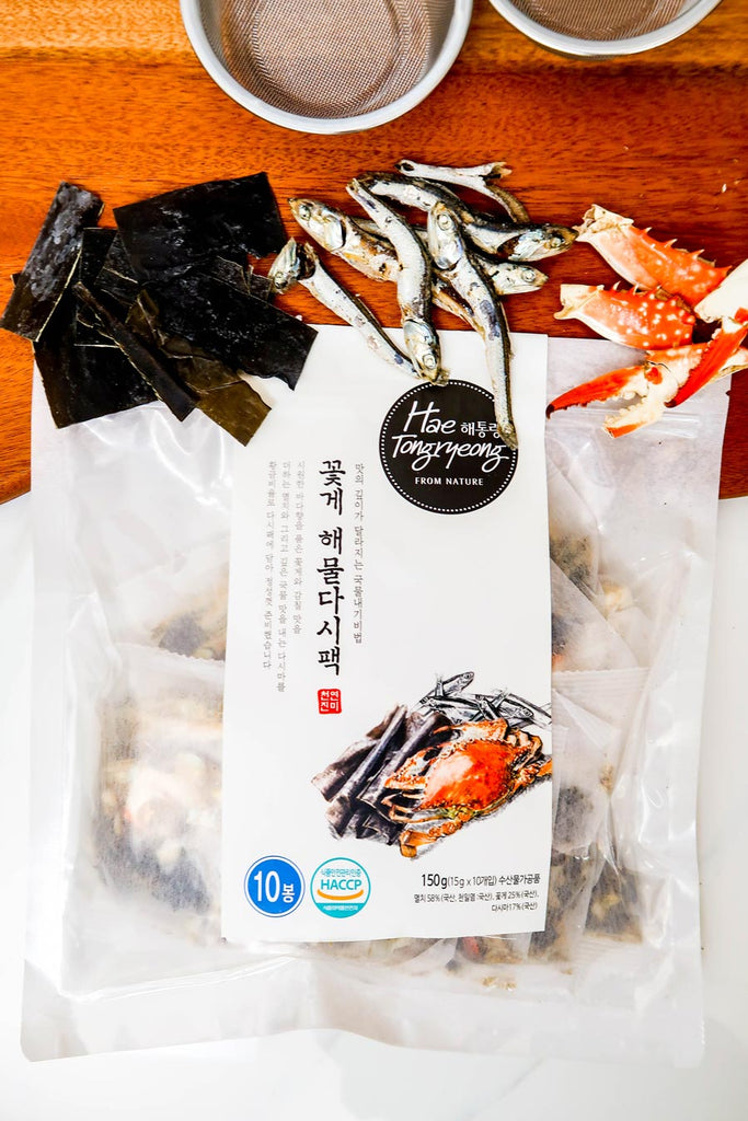 [Hae Tongryeong] Crab & Seafood Dashima Broth Pack