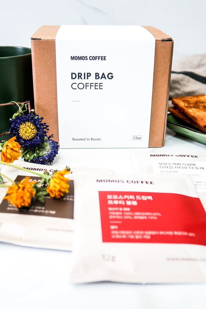 [Momos Coffee] Busan Drip Coffee Sampler Box (15 bags)