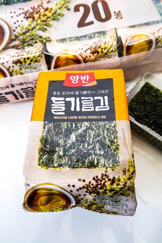 [Yangban] Roasted Laver with Perilla Oil (12 pack)