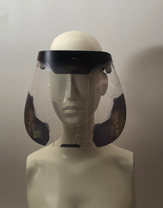 face shield with printed helmet