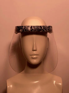 Face Shield with Printed Visor Skulls