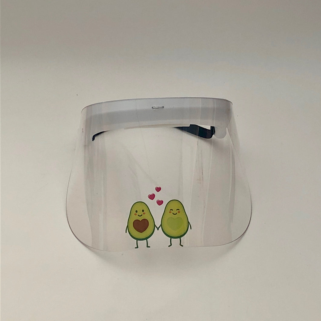 Child's Printed Face Shield: Avocado