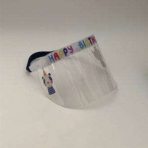 Child's Printed Face Shield: Happy Birthday