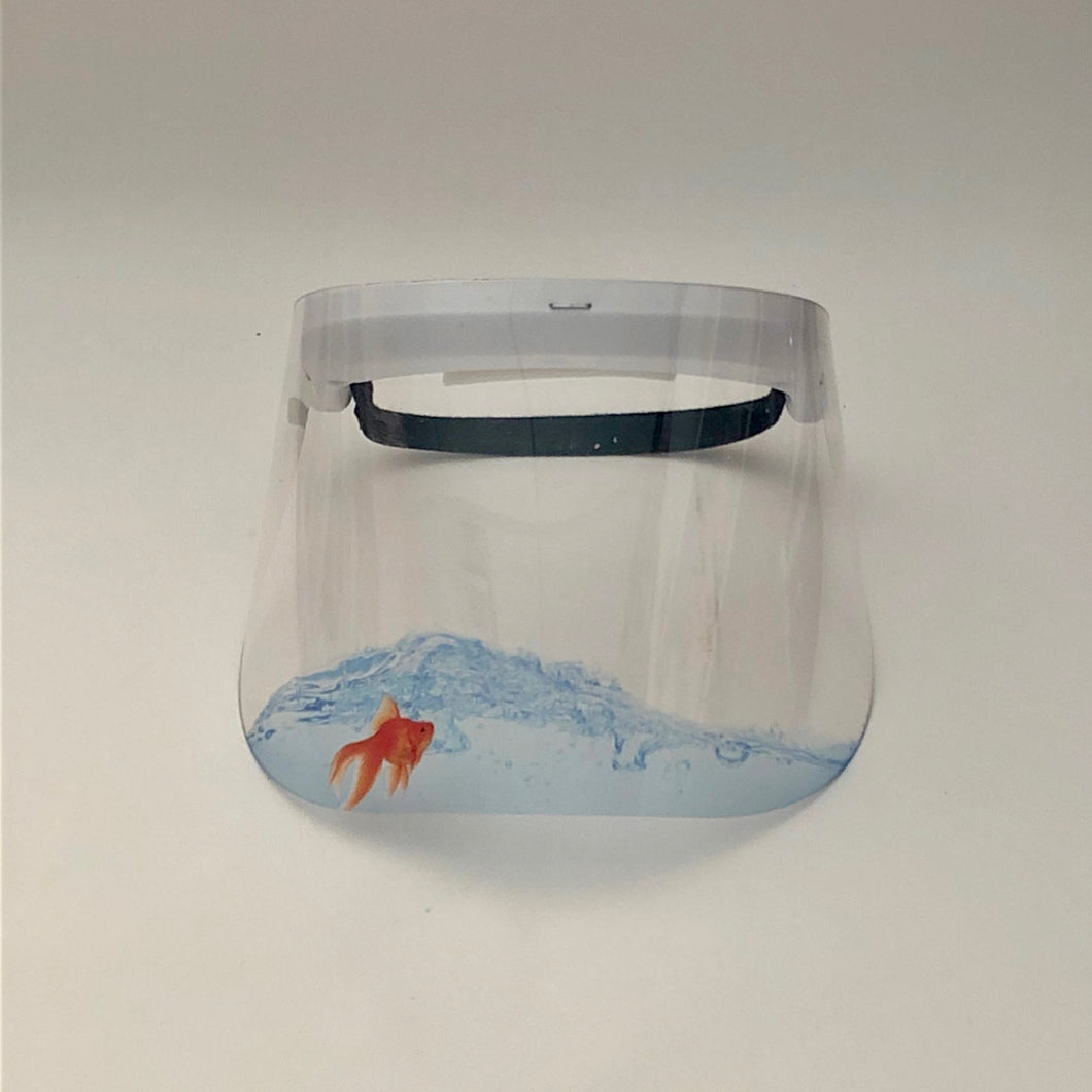 Child's Printed Face Shield: Goldfish