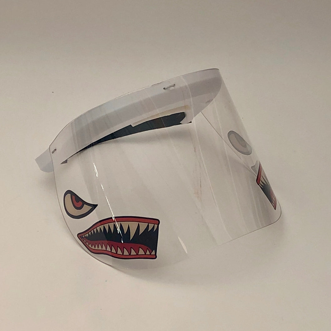 Child's Printed Face Shield: Sharks
