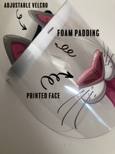 Load image into Gallery viewer, Printed Face Shield with add-on: Cat