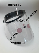 Load image into Gallery viewer, Printed Face Shield cute cat face