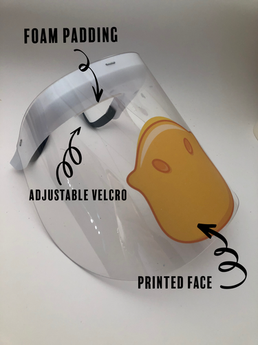 Printed Face Shield duck face