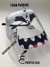Load image into Gallery viewer, Printed Face Shield monster face