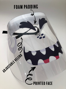 Printed Face Shield monster face