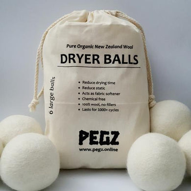 Wool Dryer Balls (6 pack) by PEGZ - One Little Sprout