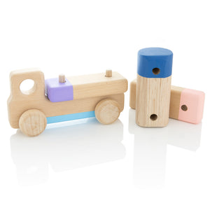 Wooden Truck with Stripe by Milton Ashby - One Little Sprout