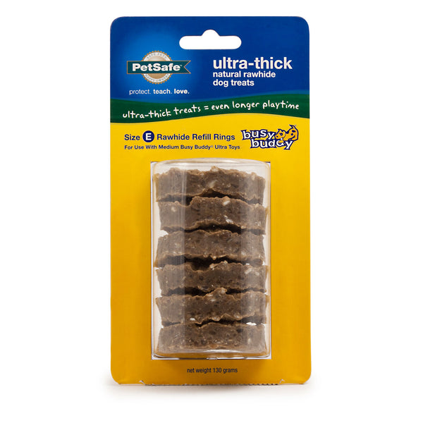 Busy Buddy Ultra-Thick Natural Rawhide Rings Refill