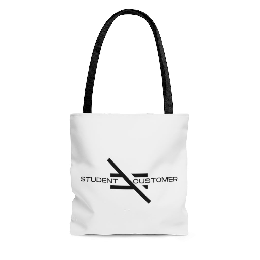 Student Not Customer AOP Tote Bag