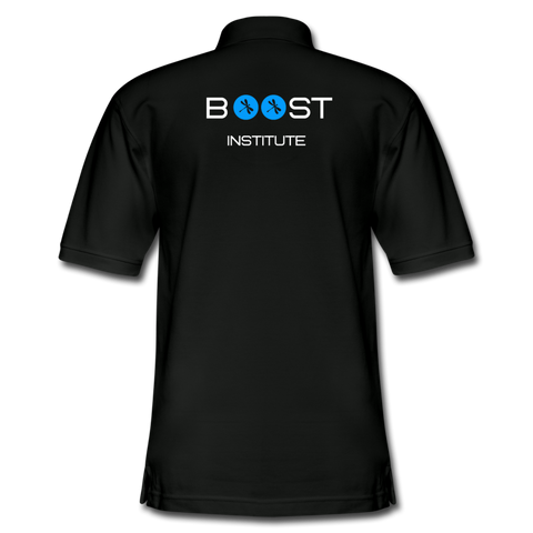 Boosted Men's Pique Polo Shirt - black