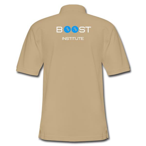 Boosted Men's Pique Polo Shirt - beige