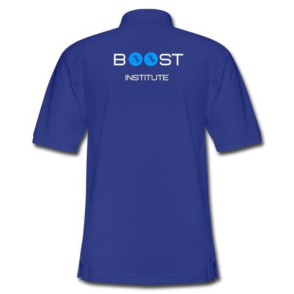 Boosted Men's Pique Polo Shirt - royal blue