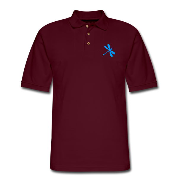 Boosted Men's Pique Polo Shirt - burgundy