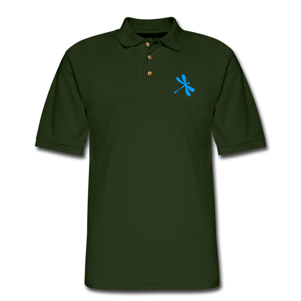 Boosted Men's Pique Polo Shirt - forest green