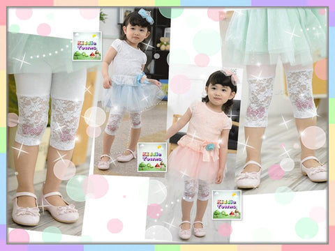 READY STOCK: Summer Lace Quarter Legging [SUMMER_L023]