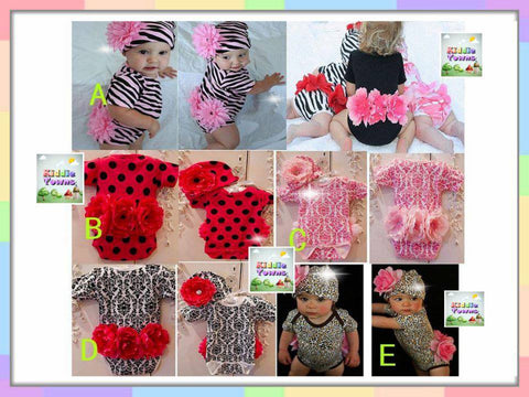 SALES: Big 3D Flower 2pcs Set (Romper + Hat) [FLOWER_SET]
