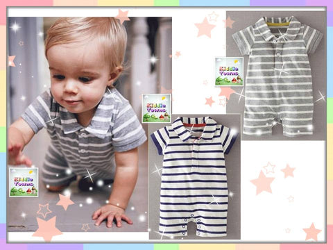 READY STOCK: P*LO Thin Stripe Collar Romper [PLO_R13B]