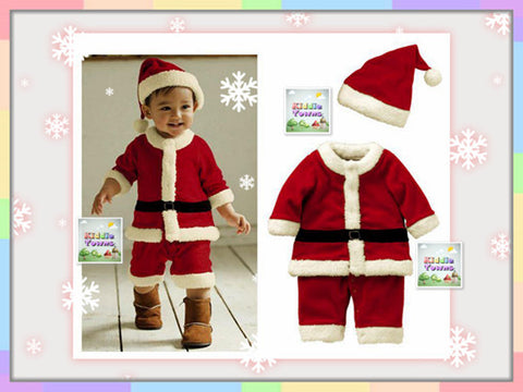 SALES: Xmas Boy 2pcs Set (Romper + Xmas Hat) [MERRY_RP_BOY_01]