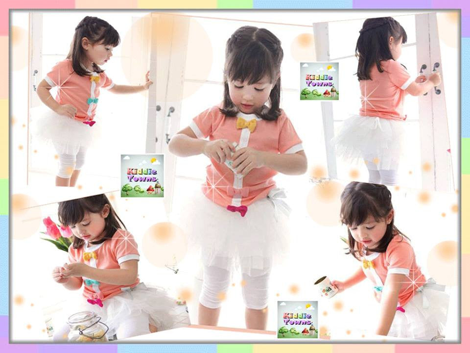 READY STOCK: Girl Ribbon Tutu Legging Set (Top + Tutu Legging) [GIRLSET_TUTUSET_01]