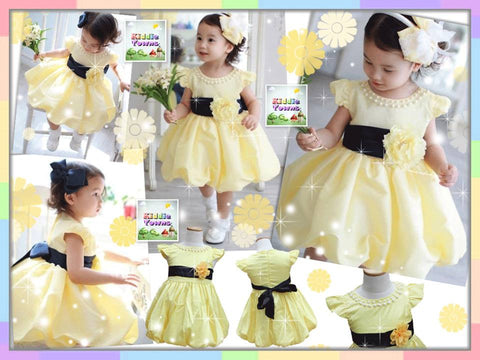 SALES: Sweet YELLOW Princess Gown with Chest Flower [CUTIE_W05]