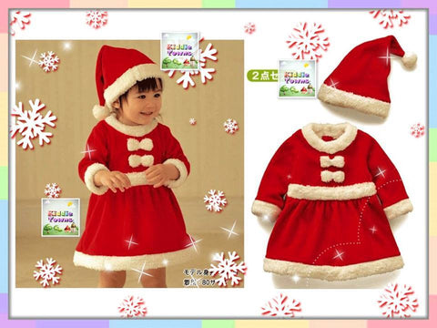 SALES: Christmas Santa Girl 2pcs Set [MERRY_D05]