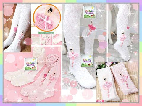 READY STOCK: Girl Legging Sock with Ballet Doll [KIDS_LACE_LG01]