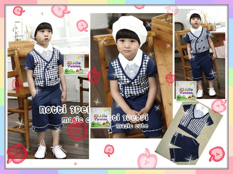 SALES: Smart Checkered Vest Suit [COLLEGE_04]