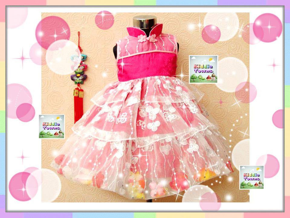 READY STOCK: Korean Sleeveless LAYER CAKE QiPao Can Can Dress (DARK PINK+WHITE) [SWEET_G31]
