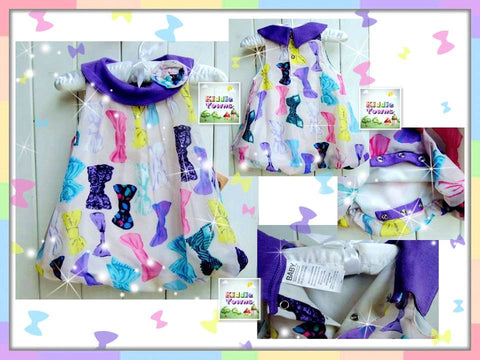 READY STOCK: Baby PURPLE RIBBON Romper Dress [LOVE_BB07_A]