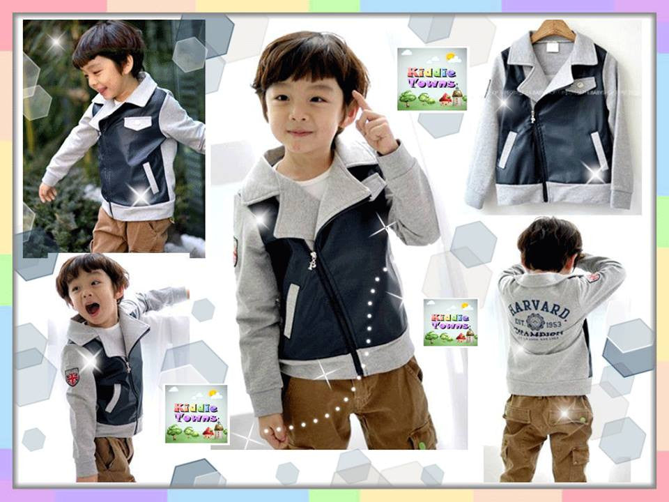 SALES: Boy Side Zip Coat(DARK BLUE) [HBOY_C04]