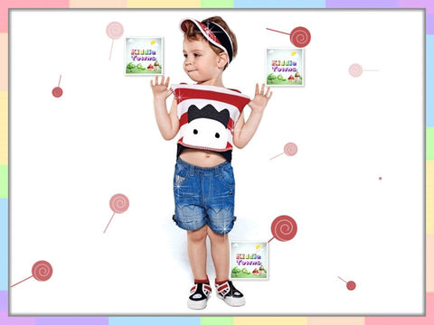 SALES: Boy RED WHITE 2pcs SET (Shirt + Pant) [RP_BOYSET_RED]