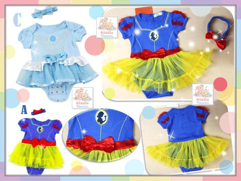 READY STOCK: Princess Tutu Dress Romper with Headband Set [WAWA_PRINCESS_03]