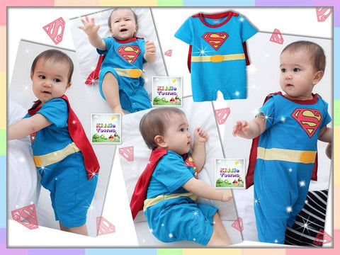 SALES: SUPERMAN Rompers (With Cape) [RP_HERO_04]